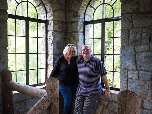 Glynda and Houston at Rock Eagle Tower