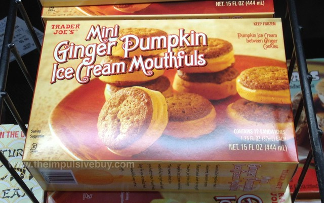 Trader Joe's Ginger Pumpkin Ice Cream Mouthfuls