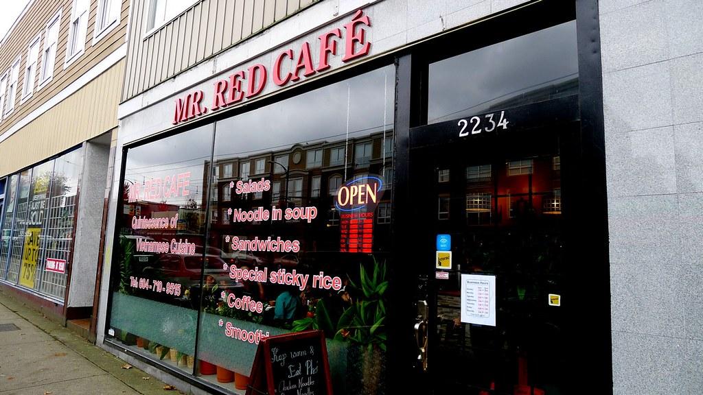 Mr. Red Cafe Vietnamese Restaurant Vancouver Hanoi