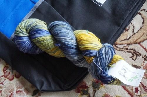 Starry Night in Djinni Sock from Dragonfly Fibers