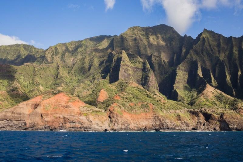 Napali coast from the sea - Kauai, Hawaii
