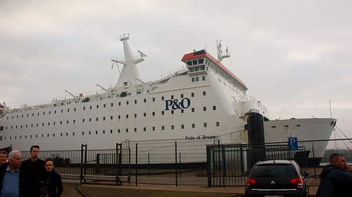 P&O Ferry 'Pride of Bruges', which we took our 'mini-cruise' on. Docked in Zeebrugge