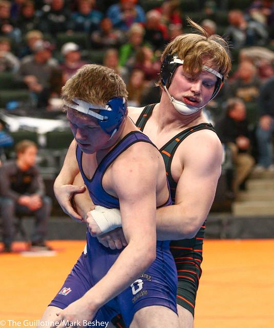 170A - 3rd Place Match - Cody Dravis (Park Rapids) 38-7 won by decision over Mason Huemann (Goodhue) 38-10 (Dec 6-1)