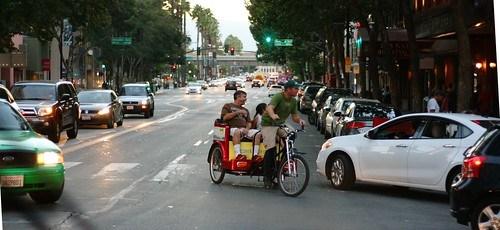 Pedicab coming through!