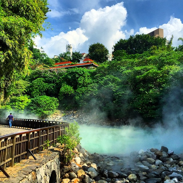Sunny day in Beitou Hot Springs #taiwan #latergram #travelphotography