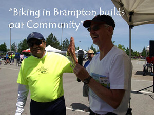 Biking in Brampton builds our community