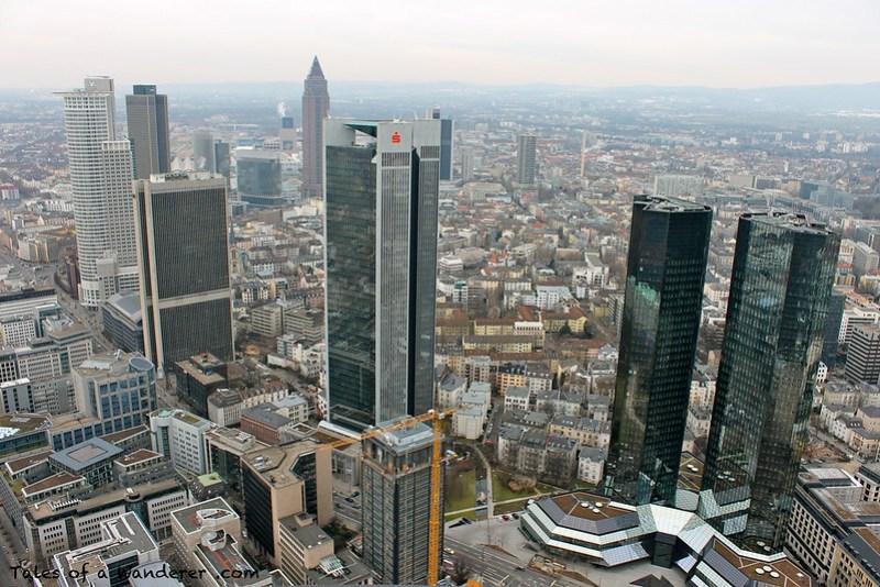 FRANKFURT AM MAIN - Main Tower - Messeturm / Deutsche Bank Twin Towers