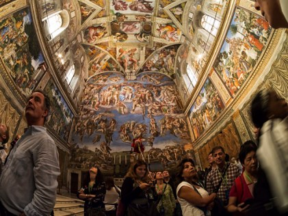 Inside the Sistine Chapel - Vatican City, Day of the Dead, All Saints Day, Vinegar Day, Fried Clams