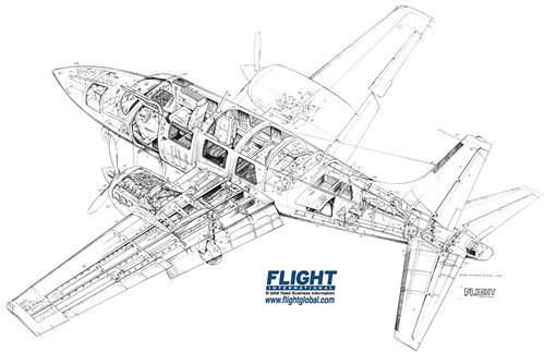 Flickriver: Photoset 'Business Aircraft Cutaways' by