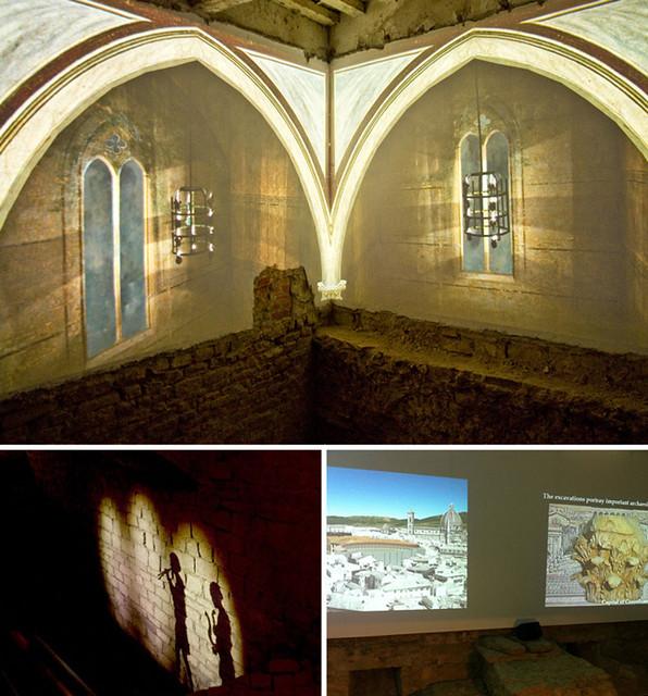 Gli scavi sotto Palazzo Vecchio, a Firenze