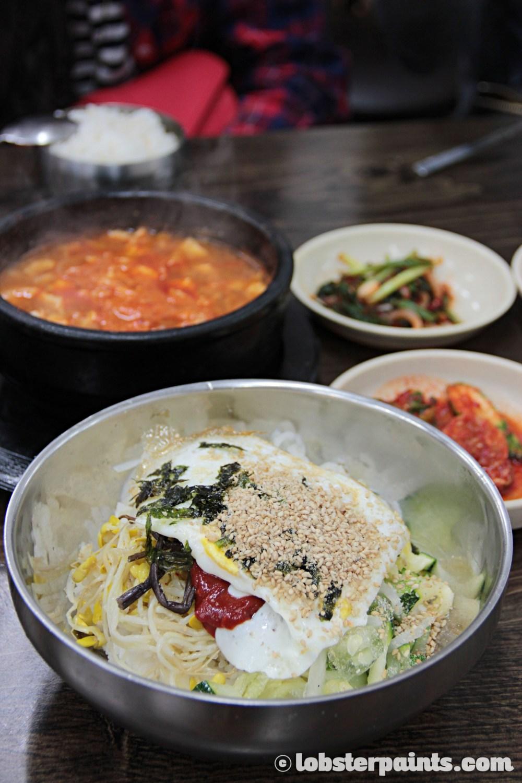 26 Sep 2014: Bibimbap at Mummy's Hands 엄마손식당 near Gwangan Beach | Busan, South Korea