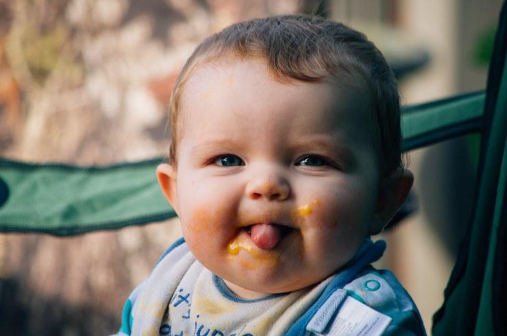 Ezra after eating