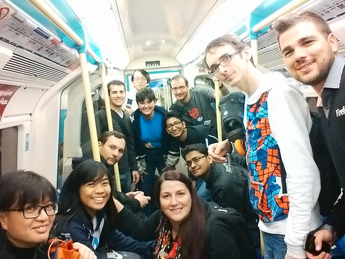 Reps Selfie while on the Tube. Photo by Rara Queencyputri