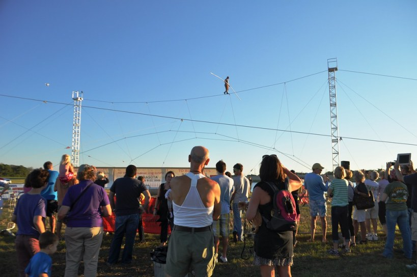 King of the High Wire, Nik Wallenda, Trains in Sarasota, Fla., in Preparation for His Nov. 2, 2014 Walk Across Chicago River. Taken: Oct. 18, 2014