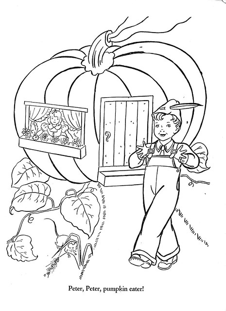 Peter Pumpkin Eater Coloring Page Home Sketch Coloring Page