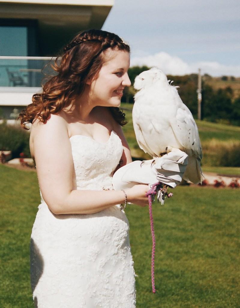 Hedwig! at this Scottish Harry Potter wedding on @offbeatbride
