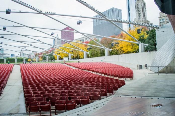 Outdoor Concert Venue Jay Pritzker Pavilion in Chicago Millennium Park