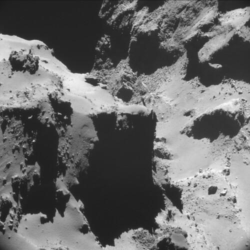 Comet 67P on 20 October (A) - NAVCAM