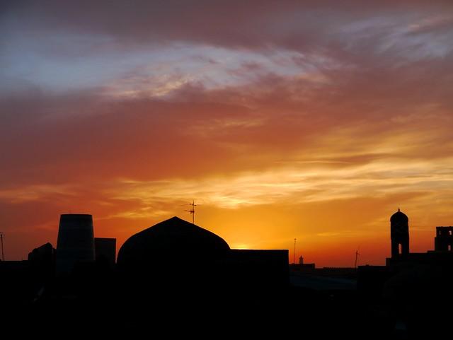 3) Golden Skies