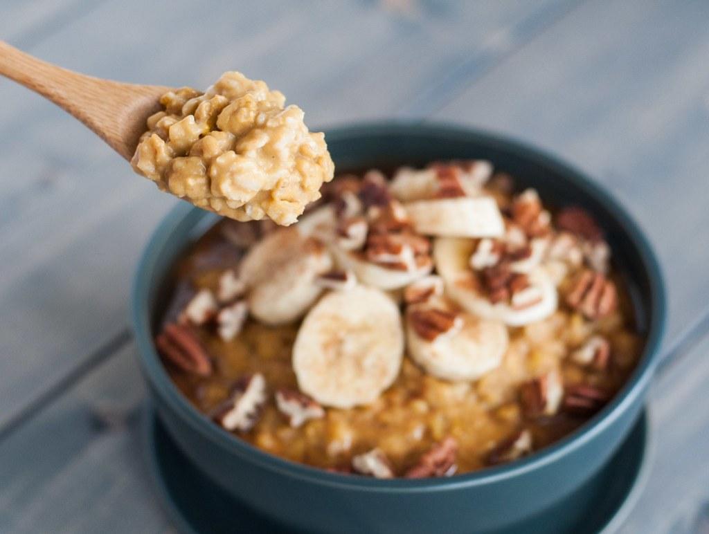 Easy maple pumpkin oatmeal with sun butter | Natural Comfort Kitchen | #quick #breakfast #glutenfree