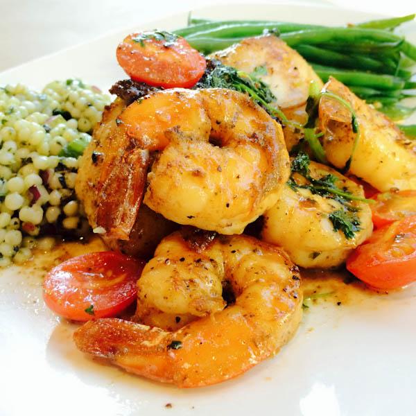 Pan Roasted Snapper + Shrimp -4578