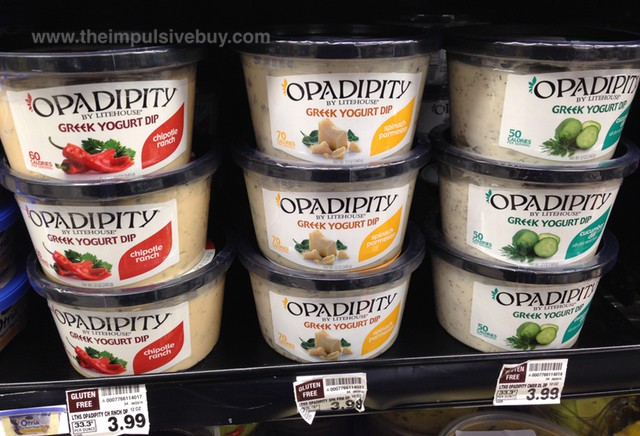 Opadipity By Lighthouse Greek Yogurt Dip (Chipotle Ranch, Spinach Parmesan, and Cucumber Dill)