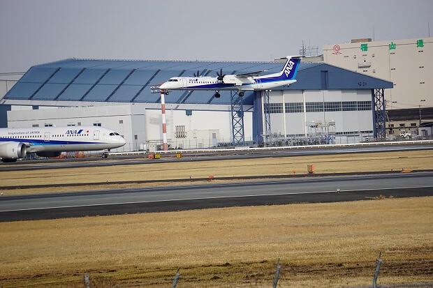 170309 ANA ボンバルディアDHC8-Q400着陸