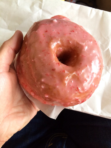 Strawberry-dipped donut