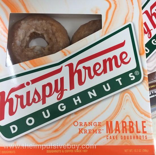Krispy Kreme Orange Kreme Marble Cake Doughnuts