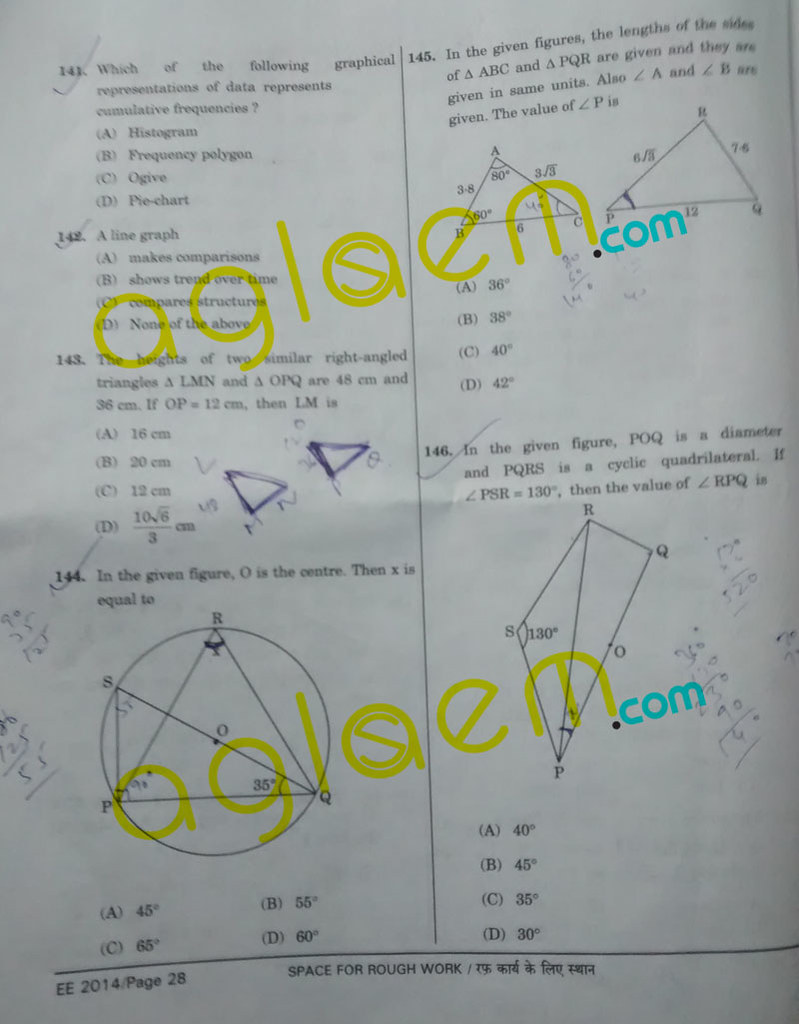 SSC CGL Question Papers with Answers