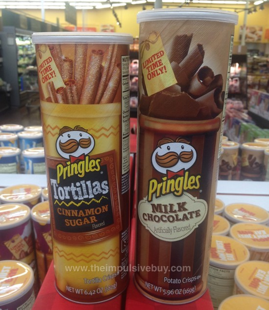 Limited Time Only Pringles Milk Chocolate and Pringles Tortillas Cinnamon Sugar