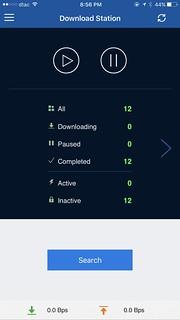 สามารถสั่งการ DownloadStation ได้จาก Qmanager