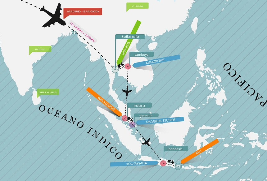 sudeste asiático: Mapa de la ruta de 21 días por el sudeste asiático sudeste asiático - 14966329863 8ab74508b0 o - viajar por el sudeste asiático en 21 días