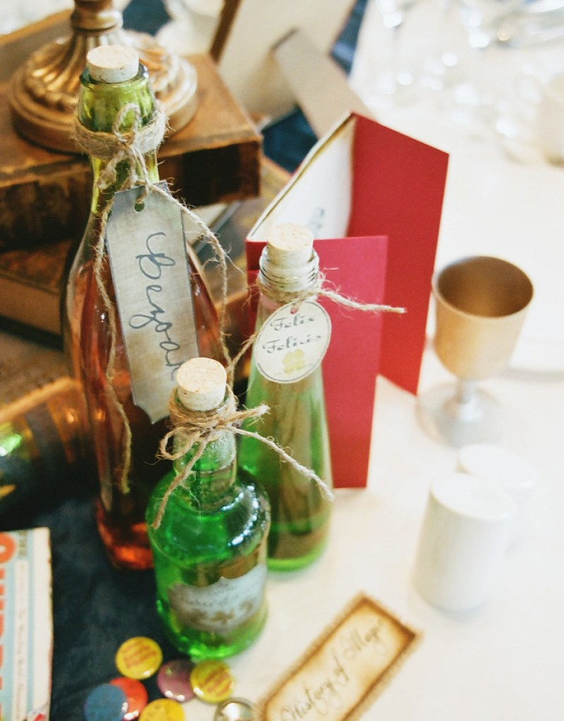 Potions at this Scottish Harry Potter wedding on @offbeatbride