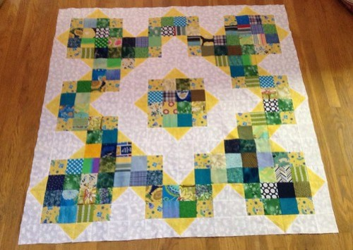 Split Nine Patch quilt top
