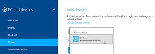 PTV with Windows 8