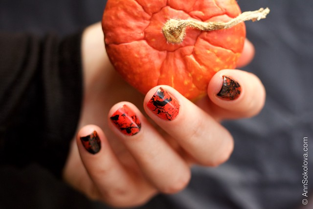 05 Morgan Taylor Halloween Collection 2014   Orange Crush swatches splatter nails