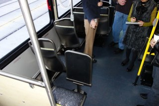 Single seats by the rear passenger door
