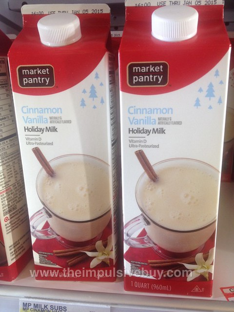 Market Pantry Cinnamon Vanilla Holiday Milk