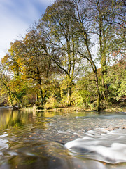 River Brathay and autumn trees in the Lake District