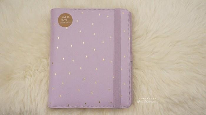 Kikki.K Large Time Planner - Lilac & Gold