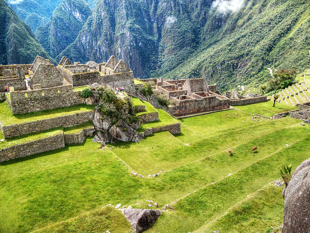 The Central Plaza, Machu Picchu.