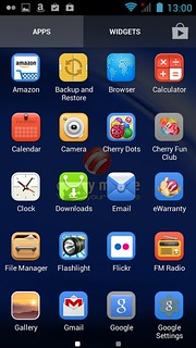 App tray ของ Cherry Mobile Hero