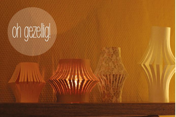 DIY papieren lantaarn 's avonds