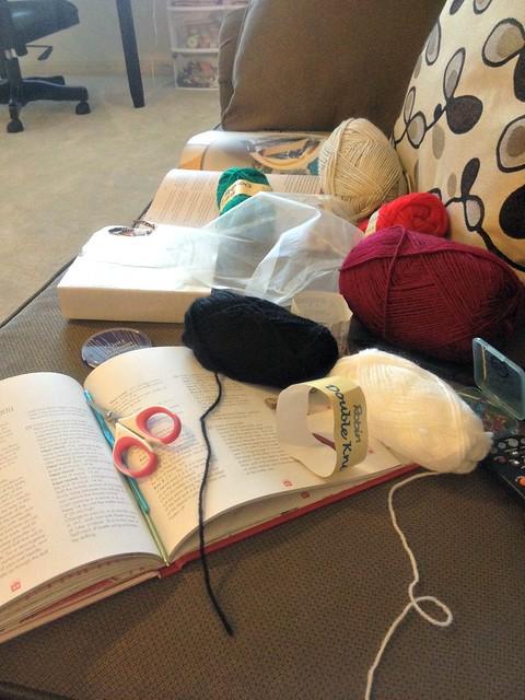 crochet pile