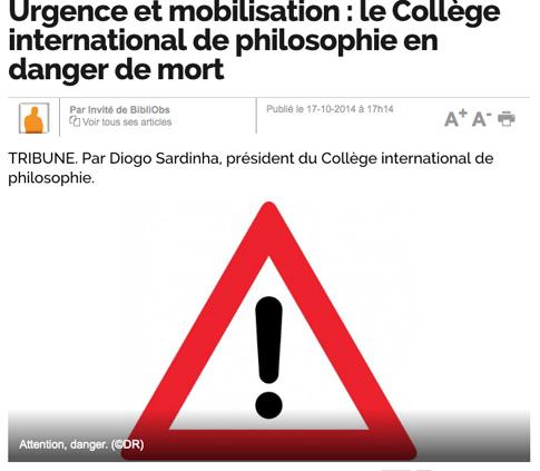 14j25 Obs Collège international philosophie amenazado muerte