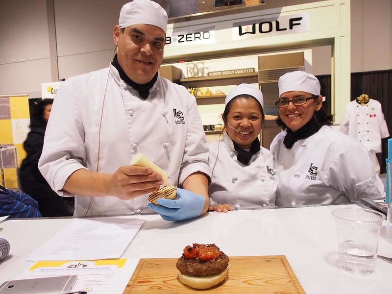 Liaison College Downtown team presents Lamb Burgers with Tomato Relish
