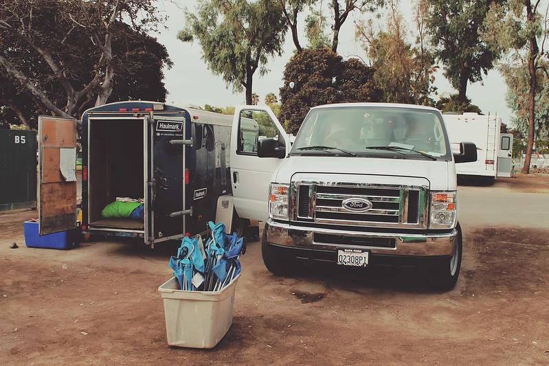 Van and trailer Trek America