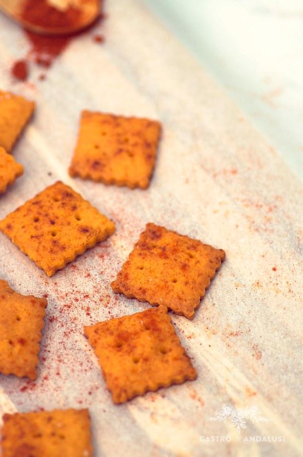 Galletas con cheedar y pimentón