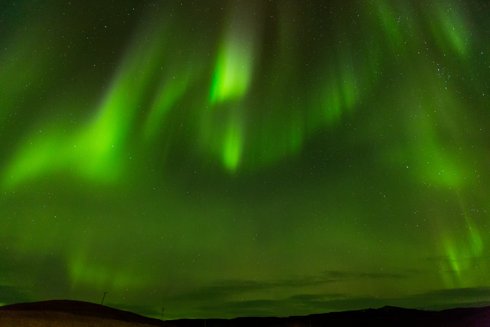 The Aurora Borealis from near Vik in Southern Iceland